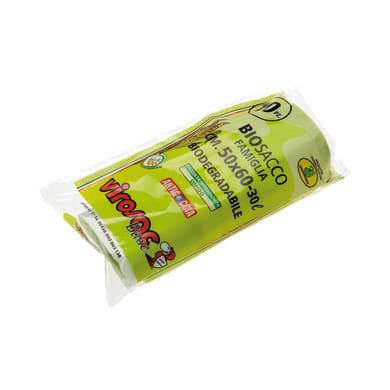 Sacchi spazzatura Biosacco L 50 x H 60 cm 30 L trasparente 10 pezzi