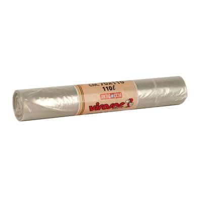 Sacchi spazzatura Virosac L 80 x H 110 cm 110 L trasparente 10 pezzi