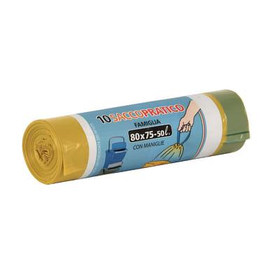 Sacchi spazzatura Saccopratico L 80 x H 75 cm 50 L giallo 10 pezzi