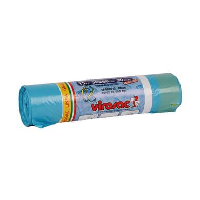 Sacchi spazzatura Saccopratico L 50 x H 60 cm 30 L azzurro 15 pezzi