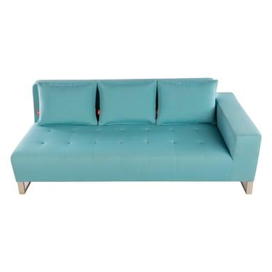 Divano con cuscino 3 posti in inox Luxor colore azzurro