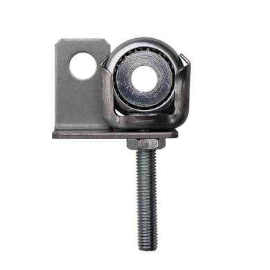 Supporto per asse tapparella avvolgibile in acciaio galvanizzato H 120 x L 55mm