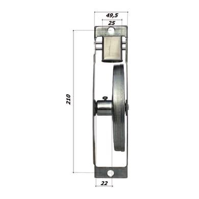 Avvolgitore per tapparella L 235 X H 60 mm