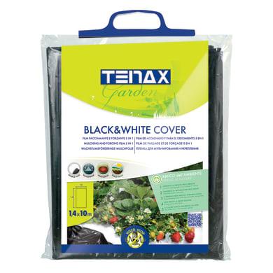 Telo di pacciamatura TENAX antierbacce nero e bianco L 10 x L 1.4 m