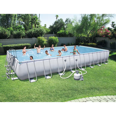 Piscina fuori terra Power steel 4.88 x 9.56 m