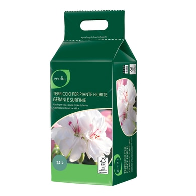 Terriccio GEOLIA per piante fiorite ed aiuole 25 L