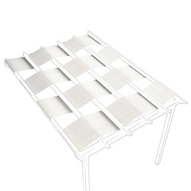 Telo di ricambio in acrilico per pergola Flamingo / Eagle (3 pezzi), bianco 70 x 350 cm
