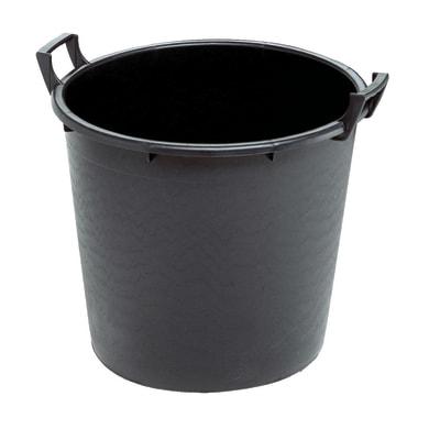 Vaso da coltura Linea professionale STEFANPLAST in plastica colore nero H 41 cm, Ø 50 cm