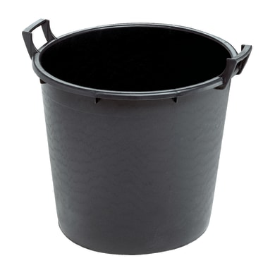 Vaso da coltura Linea professionale STEFANPLAST in plastica colore nero H 45 cm, Ø 55 cm