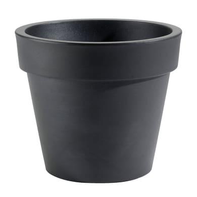 Vaso Super in plastica colore nero H 35 cm, Ø 40 cm
