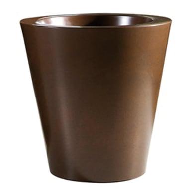 Vaso Shining in plastica colore ruggine H 40 cm, Ø 40 cm