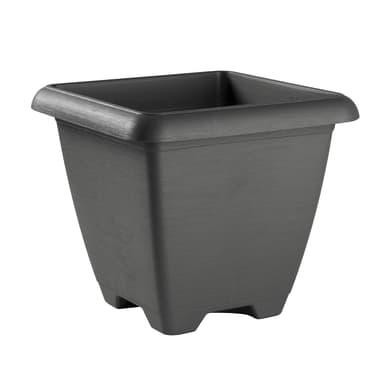Vaso Terrae in plastica colore grigio H 38.5 cm, L 43 x P 43 cm