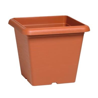 Vaso Terrae in polipropilene colore cotto H 31 cm, L 35 x P 35 cm