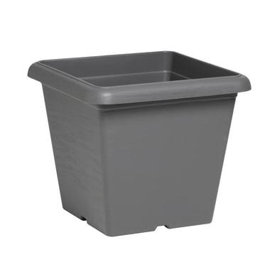 Vaso Terrae in plastica colore grigio H 31 cm, L 35 x P 35 cm