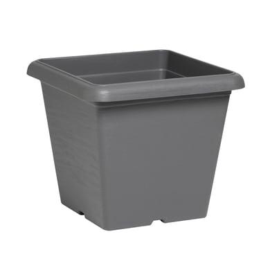 Vaso Terrae in plastica colore grigio H 21 cm, L 25 x P 25 cm