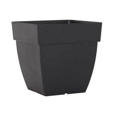 Vaso Quadro Capri ARTEVASI in plastica colore antracite H 40 cm, L 40 x P 40 cm
