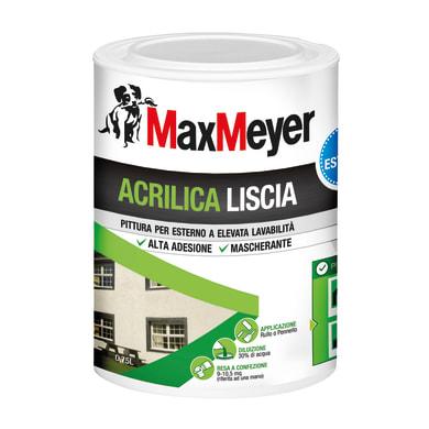 Vernice acrilica MaxMeyer liscia bianco 0.75 L