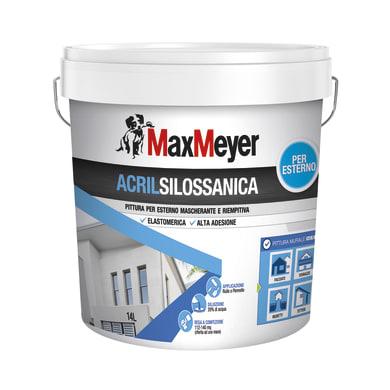 Pittura acrilsilossanica e elastomerica MaxMeyer bianco 14 L