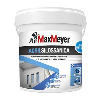Pittura acrilsilossanica e elastomerica MaxMeyer bianco 4 L