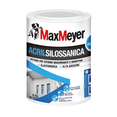 Pittura acrilsilossanica e elastomerica MaxMeyer bianco 0.75 L