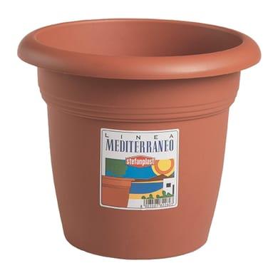 Vaso Mediterraneo STEFANPLAST in plastica colore cotto H 41 cm, Ø 55 cm
