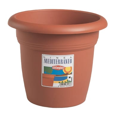 Vaso Mediterraneo STEFANPLAST in plastica colore cotto H 33 cm, Ø 45 cm