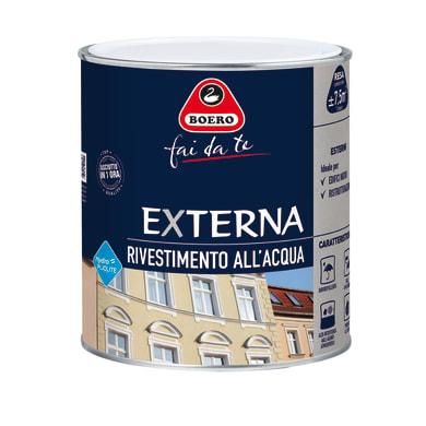 Pittura pliolite® BOERO FAI DA TE Externa bianco 0.75 L
