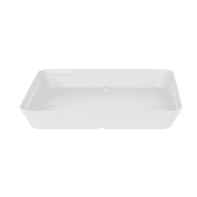 Sottovaso in plastica colore bianco P 15 x L 15 cm