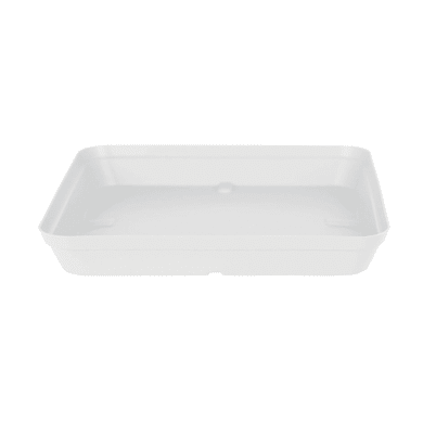 Sottovaso in polipropilene colore bianco P 38 x L 38 cm Ø 38 cm