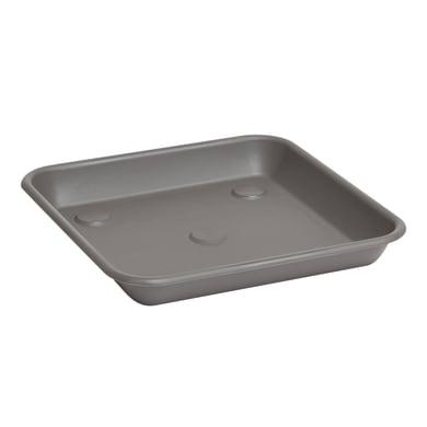 Sottovaso in plastica colore grigio antracite P 23 x L 23 cm