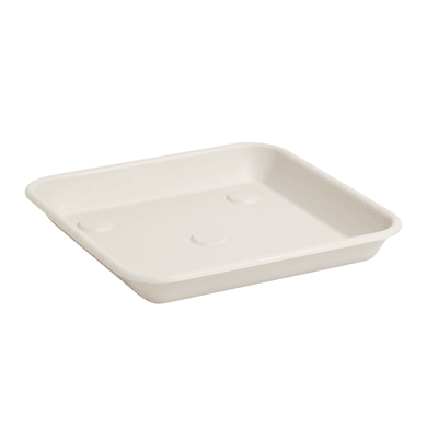 Sottovaso in plastica colore bianco P 25 x L 25 cm