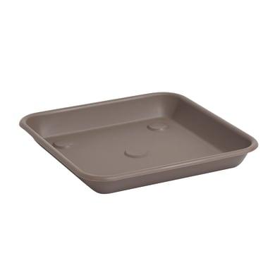Sottovaso in plastica colore tortora P 30 x L 30 cm