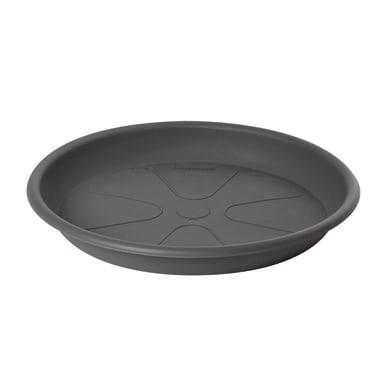 Sottovaso in plastica colore grigio antracite Ø 45 cm