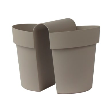 Vaso Be Up EURO3PLAST in plastica H 25 cm, L 25 x P 33 cm