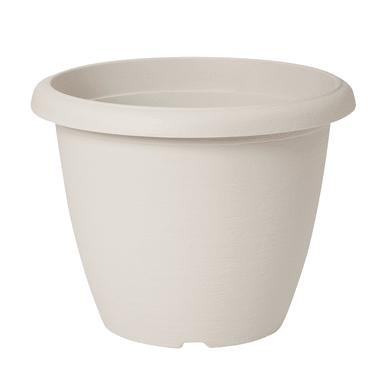 Vaso Terrae in polipropilene colore bianco H 23 cm, Ø 30 cm