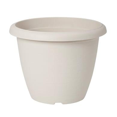Vaso Terrae in polipropilene colore bianco H 30.7 cm, Ø 40 cm