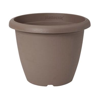 Vaso Terrae in polipropilene colore tortora H 30.7 cm, Ø 40 cm