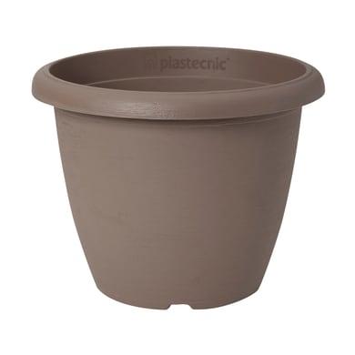 Vaso Terrae in plastica colore tortora H 34 cm, Ø 45 cm