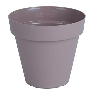 Vaso Capri in plastica colore tortora H 13 cm, Ø 14 cm