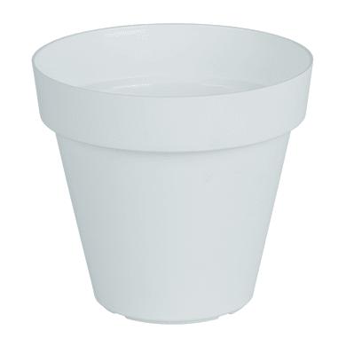 Vaso Capri ARTEVASI in polipropilene colore bianco H 15.7 cm, Ø 18 cm