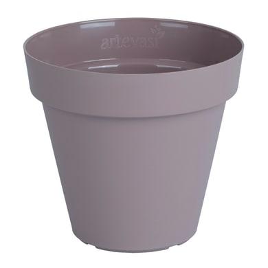 Vaso Capri ARTEVASI in polipropilene colore tortora H 15.7 cm, Ø 18 cm