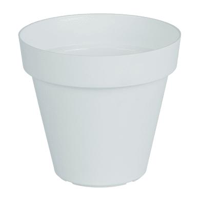 Vaso Capri ARTEVASI in polipropilene colore bianco H 18.9 cm, Ø 20 cm