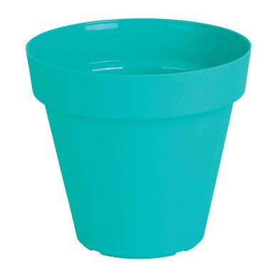 Vaso Capri in plastica colore turchese H 18.9 cm, Ø 20 cm