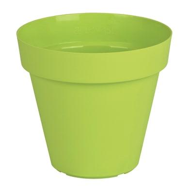 Vaso Capri in plastica colore verde H 18.9 cm, Ø 20 cm