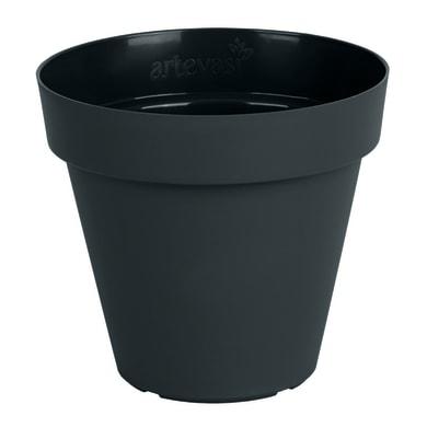 Vaso Capri ARTEVASI in polipropilene colore antracite H 27 cm, Ø 30 cm