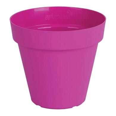 Vaso Capri in plastica colore fucsia H 27 cm, Ø 30 cm