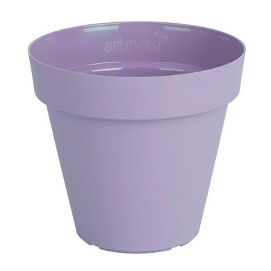 Vaso Capri in plastica colore lilla H 27 cm, Ø 30 cm