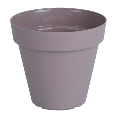 Vaso Capri ARTEVASI in polipropilene colore tortora H 27 cm, Ø 30 cm