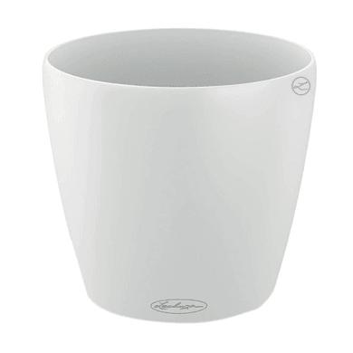 Vaso Classico Color LECHUZA in polipropilene bianco H 20 Ø 21 cm