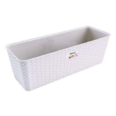 Fioriera per orto alta Natural STEFANPLAST in plastica bianco H 16 , L 50 X P 18 cm